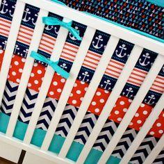 Nautical Crib Set | Baby Bedding | Crib Bedding | Sailor Nursery Decor | Modified Tot