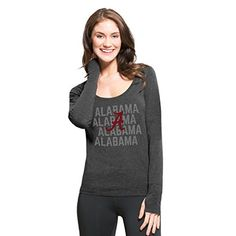 NCAA Alabama Crimson Tide Womens 47 Forward Long Sleeve Tee Pavement Medium >>> Learn more by visiting the image link.