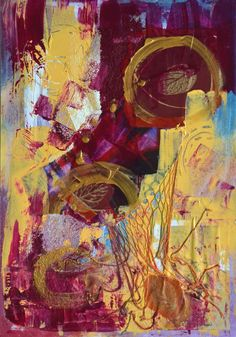 Festival Venice Italy Abstract Acrylic Painting. Contemporary Artist France #Abstract