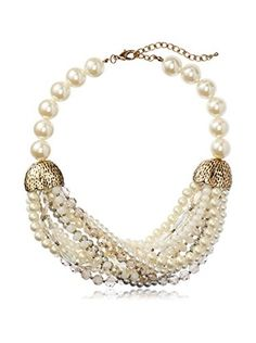 Leslie Danzis White Pearl Hammock Necklace