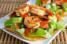 Chipotle Lime Shrimp Tostadas will amplify your game day celebration! #TailgateTakeover