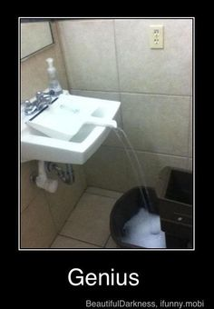 When companies don't have mop sinks, you have to get the job done any way you can