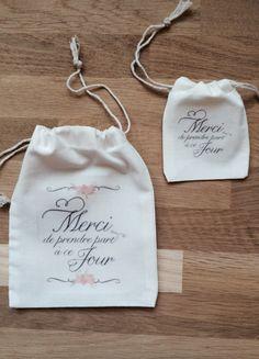 De jolis pochons personnalisés pour vos cadeaux témoins et invités ou vos dragées