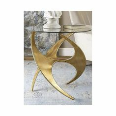 Mid Century Gold Accent Table with Round Glass Top   Clear Home Design Gold Accent Table, Mid Century Modern Side Table, Glass End Tables, Gold Accents, Antique Gold, Round Glass, Antiques, Metal, Lamps