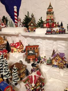 Several buildings in my Department 56 North Pole Village 2014