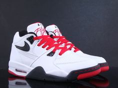 Nike Air Flight 89-White-Black-Fire Red