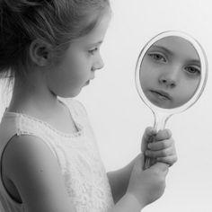 girl mirror sad
