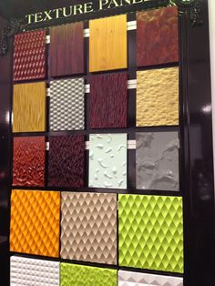 Textured panels at An alternative to paint, tile, stone or wallpaper. Dwell On Design, Home Remodeling, Tile, Alternative, Quilts, Texture, Blanket, Wallpaper, Inspiration