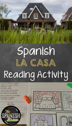 My Spanish students get tons of practice with reading and house vocabulary with these fun reading and coloring worksheets. This activity will reinforce vocabulary about la casa. A wonderful resource for an elementary or secondary classroom. Spanish Teacher, Spanish Classroom, Teaching Spanish, Teaching Resources, Teaching Ideas, High School Activities, Spanish Activities, Class Activities, Color Activities
