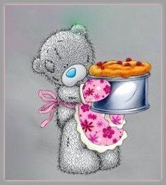 Osita tierna con cake -Blue Nose