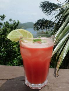 Introducing the Bloody Pirate - fresh tomato juice and hot-pepper rum. Looks pretty. Kicks like an angry mule. Wooden Cottage, Tomato Juice, West Indies, Stuffed Hot Peppers, How To Look Pretty, Rum, Kicks, River, Fresh