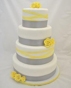 Yellow & Gray Cake