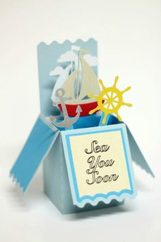 Nautical Box Card using your Silhouette | Parental Perspective