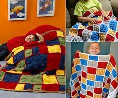 Lego Blanket Free Crochet Pattern