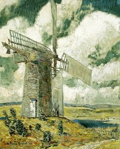 Bending Sail on the Old Mill - Childe Hassam - WikiPaintings.org