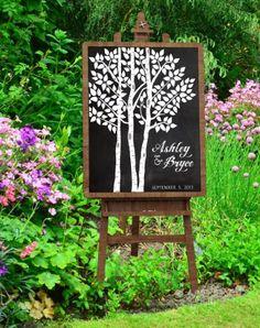 Amazon.com: Wedding Tree Print - Wedding Guest Book Alternative - Personalized Art Print - Wedding Decor: Handmade