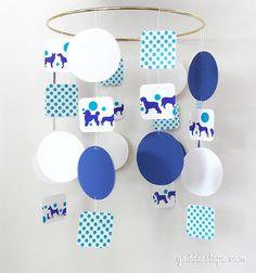 DIY Mobile for the Nursery #goddesstape #DIY #craft #nursery #designer #tape