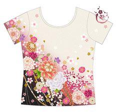 Tsubaki par Sanagi Atelier vous permet de porter les plus beaux motifs traditionnels japonais tout simplement sur des Tshirts.  Ils s'inspirent des plus beaux kimono, et la grand - 17404230