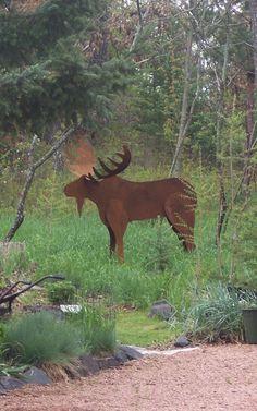 It's a moose! $295 at Vista Metal Artworks!