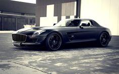 Mercedes Benz Matte Black SLS Black