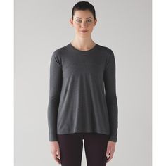 Lululemon Athletica Acadia Long Sleeve (3,150 INR) ❤ liked on Polyvore featuring activewear, activewear tops and lululemon