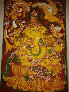 ganesha painting...its acrylics on canvas and a kerela mural