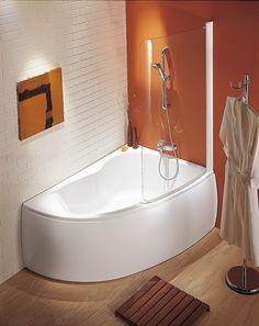 Gagnez de la place avec cette baignoire asymétrique. Elle est disponible en version droite ou gauche pour s'adapter à toutes les pièces.