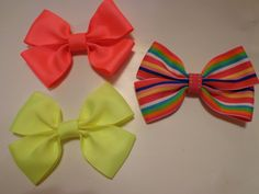 Neon Bows by bowsandmorestuff on Etsy