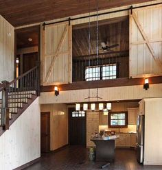 Loft with Barn Door Closure