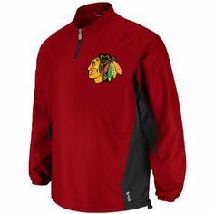 NHL Men's Chicago Blackhawks Gamer Long Sleeve Lightweight 1/4 Zip Jacket (Pro Scarlet/Pro Black, X-Large) Majestic. $60.44