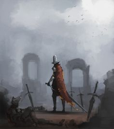 Abyss Watchers sketch, getting that color practice in