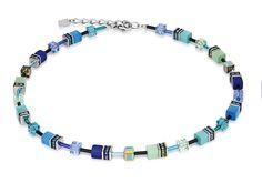 Geo Cube bright blue 2838_0705 – coeur de lion jewellery
