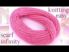 Tutorial Bufanda Infinita a Crochet - Infinity Crochet Scarf (English Subtitiles) Scarf Infinity, Infinity Scarf Tutorial, Easy Knitting, Loom Knitting, Knitting Patterns, Crochet Cushions, Crochet Videos, Crochet Beanie, Crochet For Beginners