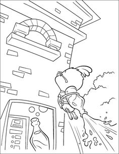 Chicken Little Slide Coloring Page - Chicken Little car coloring pages
