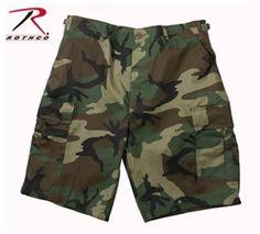 BDU Shorts - Woodland Camo (Cotton Poly Rip Stop)