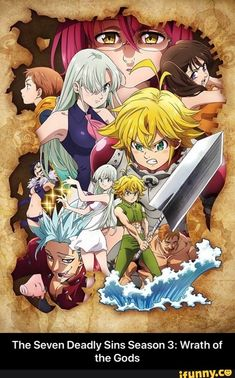 Browse pictures from the anime Nanatsu no Taizai: Kamigami no Gekirin (The Seven Deadly Sins: Wrath of the Gods) on MyAnimeList, the internet's largest anime database. Third season of Nanatsu no Taizai. Otaku Anime, L Anime, Anime Love, Anime Seven Deadly Sins, 7 Deadly Sins, Kawaii Anime, Madara Wallpaper, Fall Tv Shows, Meliodas And Elizabeth