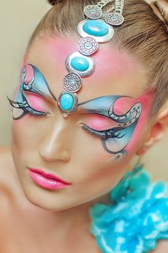 maquiagem-para-carnaval-modelos make-up-for-carnival-models - Makeup Fx, Beauty Makeup, Face Makeup, Make Up Looks, Make Up Designs, Lip Designs, Art Visage, Make Up Gesicht, Extreme Makeup