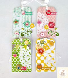 Beautiful spring summer tags