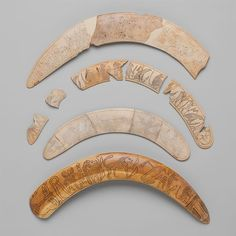 Magic wands. Period: Middle Kingdom. Dynasty: Dynasty XXII. Date: ca. 1981–1802 B.C. Lisht South, Pyramid Temple of Senwosret I. Medium: Hippopotamus ivory.