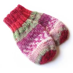 Hand Knit Baby Mittens No Thumb. Infant 3 to 6 Months Baby Mittens, Knit Mittens, Knitted Hats, Stockinette, Best Christmas Gifts, Knitting Patterns, Knitting Ideas, Baby Knitting, Swatch