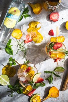 Obsessed with this flavor combo!!! This Sweet Beet Strawberry & Tarragon Vodka Smash is a unique and fun summer cocktail. The savory sweet beet tarragon simple syrup blends perfectly with juicy strawberries.