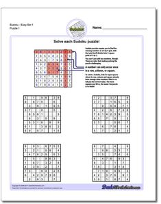 These printable sudoku puzzles range from easy to hard, including completely evil puzzles that will have you really sweating for a solution! Printable Crossword Puzzles, Free Printable Math Worksheets, Sudoku Puzzles, Printables, Math Games For Kids, Fun Math Activities, Math Resources, Primary Lessons, Math Lessons