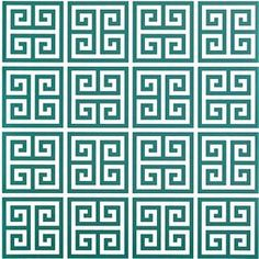 Showcasing a classic Greek key motif in hunter green and white tones, this peel-and-stick wallpaper square brings regrets-free style to any room. Make a bold statement on an accent wall or your refrigerator door, and let it add a patterned pop as a contemporary kitchen backsplash or graphic bookcase liner.  Product: WallpaperConstruction Material: Peel-and-stick fabricColor: Hunter green and whiteFeatures:  Easy to removeGreek key motif Dimensions: 2' x 4'