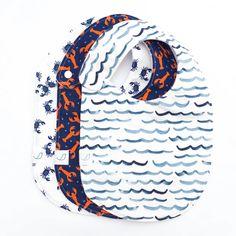 *NEW* Nautical Charlie Bib SET OF THREE // Salty | Hemming Birds Nautical Nursery, Nautical Baby, Diaper Clutch, Toddler Bibs, Clear Plastic Bags, Wet Bag, Fabric Bows, Burp Cloths, Baby Wearing