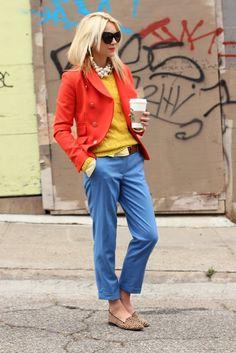 Menswear-inspired look from Blair Eadie of Atlantic-Pacific