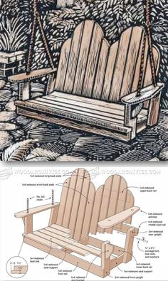 Adirondack Swing Plans - Outdoor Furniture Plans & Projects | WoodArchivist.com
