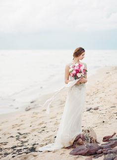 'Selkie Maidens' - An Ethereal Beach Bridal Shoot - Chic Vintage Brides : Chic Vintage Brides Beach Wedding Colors, Nautical Wedding, Beach Weddings, Beach Wedding Inspiration, Wedding Ideas, Chic Vintage Brides, Bride Photography, Wedding Calligraphy, Bridal Shoot