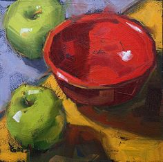 """""""Red Bowl"""" - Original Fine Art for Sale - © Cathleen Rehfeld Still Life Drawing, Painting Still Life, Still Life Art, Red Bowl, Apple Art, Fruit Art, Pastel Art, Pottery Painting, Painting Inspiration"""
