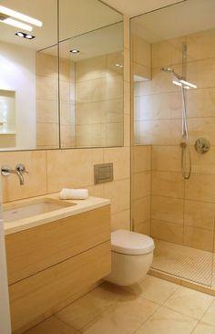 Badezimmer In Naturstein Optik Mit Freistehender Dusche | Wohnen |  Pinterest | Ebenerdige Dusche, Natursteine Und Badezimmer