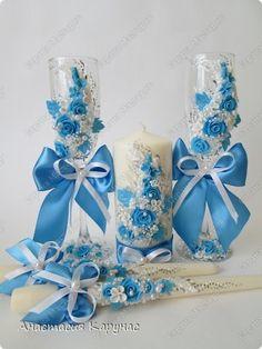 Декор предметов Свадьба Свадебные аксессуары Глина фото 1